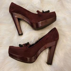 Authentic Louis Vuitton Sz39 Platform Loafers Shoe